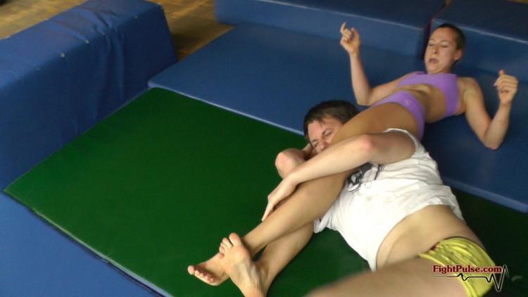 Artemis vs AJ - competitive mixed wresting match