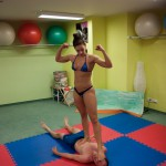 trampling victory pose by Skylar Rene