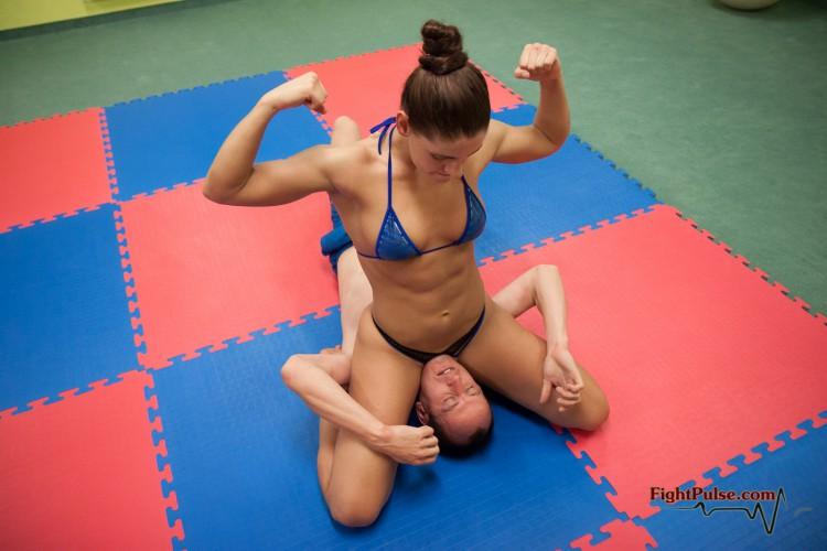 Skylar Rene schoolgirl pin victory pose