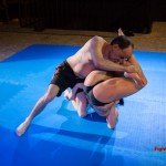 Wrestlers struggling for advantage