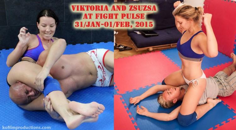 Viktoria and Zsuzsa wrestling in Prague poster