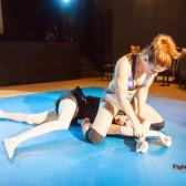 Viktoria's schoolgirl pin technique is infallible