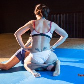 female dominant in mixed wrestling
