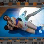 mixed wrestling - headlock