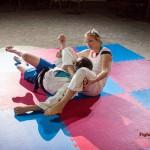 Judo triangle choke