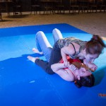 Akela trying to pin her opponent down