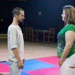Lucrecia vs Juseph - competitive mixed wrestling match