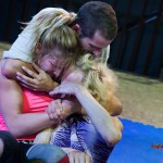 1f vs 2m mixed wrestling