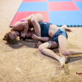 they well off the mat but continuted wrestling