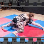 Competitive mixed wrestling video - Scorpion vs Diego