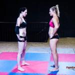 Karina vs Diana - pre-match staredown