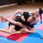 Karina Gotika battles for victory
