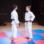 Mixed judo staredown