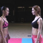 Staredown between Akela vs Zoe before the final match of first lightweight championship