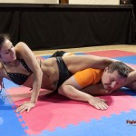 headscissors with arm trapped between legs