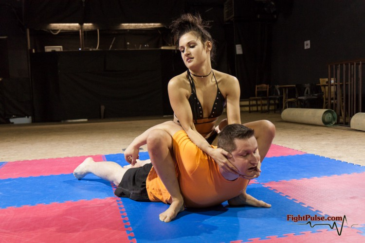 Jane applying camel clutch