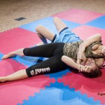 mixed wrestling headlock photo