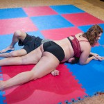 belly smothering by Lucrecia from cross-body pin position