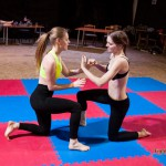 Katniss vs Calypso - competitive female wrestling