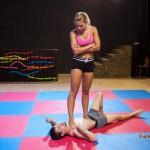 NC-45: Jenni Czech disciplines her slave