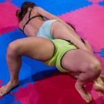 Giselle vs Mia - bodyscissors (rear view)