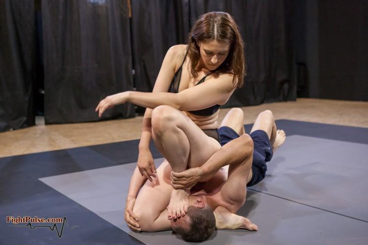 Jade foot domination wrestling